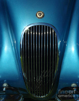 Photograph - 1953 Jaguar 120m Grill by Peter Piatt