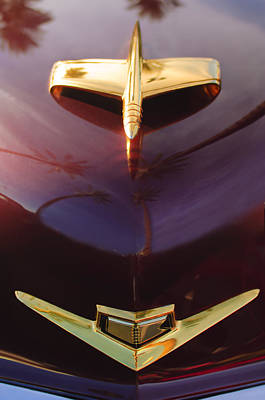 Photograph - 1953 Kaiser Golden Dragon Hood Ornament by Jill Reger