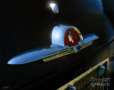 Photograph - 1953 Mercury Monterey Hood Emblem by Peter Piatt