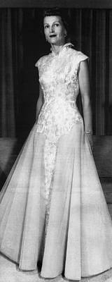 Inaugural Gown Photograph - 1953 Presidential Inauguration.  Second by Everett