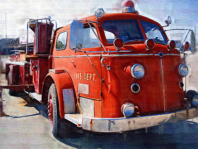Oil Pumper Photograph - 1954 American Lafrance Classic Fire Engine Truck by Kathy Clark