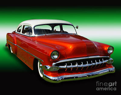 Photograph - 1954 Bel Air Custom 01 by Peter Piatt