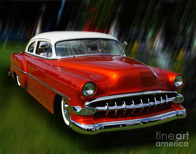 Photograph - 1954 Bel Air Custom 02 by Peter Piatt