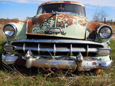 Photograph - 1954 Chevy Bel Air by Joy Tudor