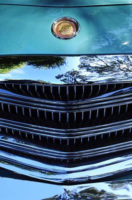 Photograph - 1954 Chrysler Hood Emblem 2 by Jill Reger