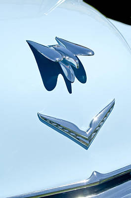 Photograph - 1954 Chrysler New Yorker Deluxe Hood Ornament by Jill Reger