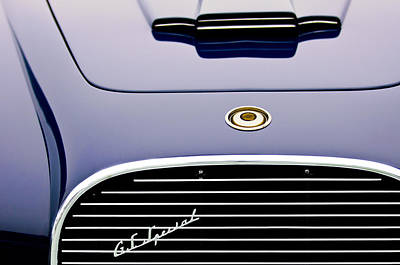 Photograph - 1954 Chrysler New Yorker Ghia Coupe Grille Emblem by Jill Reger