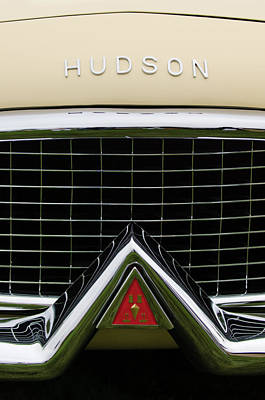 Photograph - 1954 Hudson Italia Touring Coupe Hood Emblem by Jill Reger