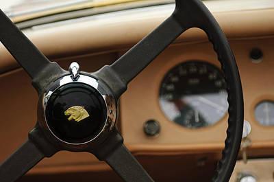 Photograph - 1954 Jaguar Xk 120 M Roadster Steering Wheel by Jill Reger