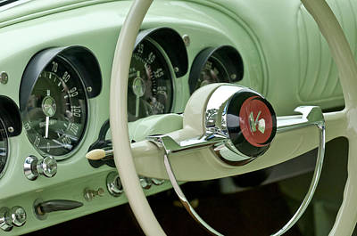 Photograph - 1954 Kaiser Darrin Steering Wheel by Jill Reger