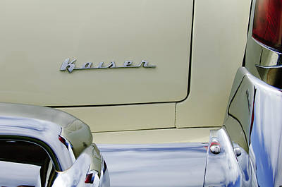 Photograph - 1954 Kaiser Manhattan Rear Emblem by Jill Reger