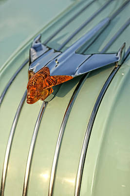 Jet Star Digital Art - 1954 Pontiac Chieftain Hood Ornament by Gordon Dean II
