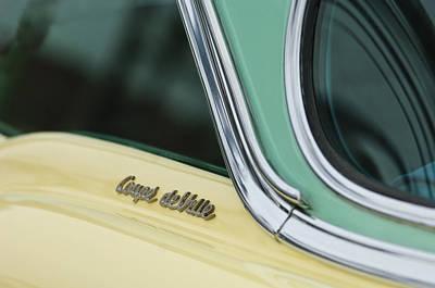 1955 Cadillac Photograph - 1955 Cadillac Coupe Deville Emblem 2 by Jill Reger