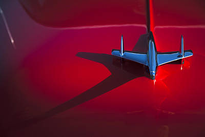 Blue Chevy Photograph - 1955 Chevrolet Bel Air Hood Ornament by Carol Leigh