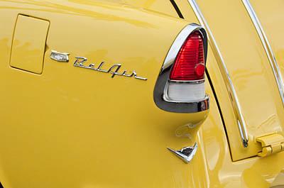 Photograph - 1955 Chevrolet Belair Nomad Tail Light by Jill Reger