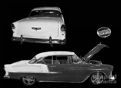 1955 Chevy Bel Air 2 Door Hard Top Art Print by Tim Mulina