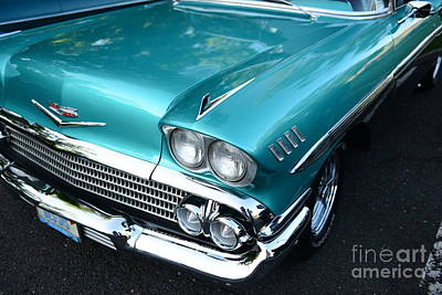 1955 Chevy Belair Front End Art Print by Paul Ward