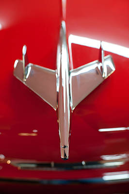 Photograph - 1955 Chevy Belair Hood Ornament by Sebastian Musial