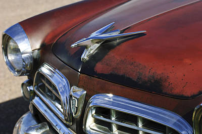 Photograph - 1955 Chrysler Windsor Deluxe Hood Ornament by Jill Reger