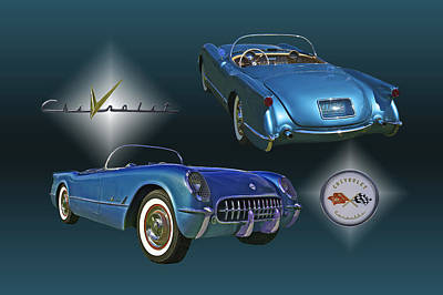1955 Corvette - 68 Of 700 Built Art Print by Mike  Capone