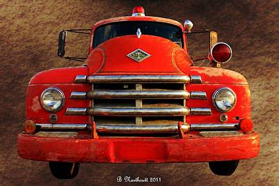 1955 Diamond T Grille - The Cadillac Of Trucks Art Print by Betty Northcutt