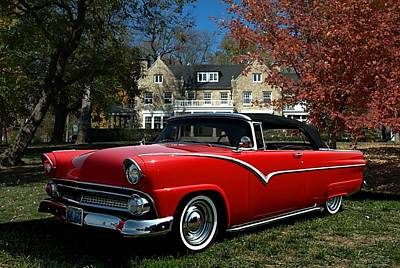 Photograph - 1955 Ford Convertible by Tim McCullough