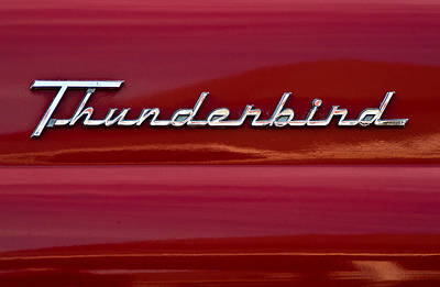 Photograph - 1955 Ford Thunderbird Rear Tail Emblem by  Onyonet  Photo Studios