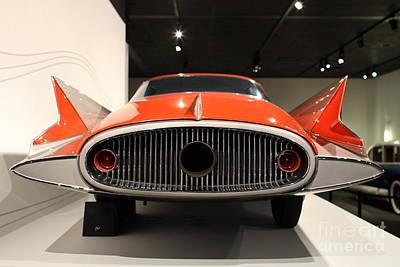 1955 Ghia Streamline X Gilda Concept Car - 7d17264 Art Print by Wingsdomain Art and Photography