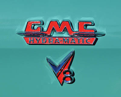 Photograph - 1955 Gmc Suburban Carrier Pickup Truck Emblem by Jill Reger