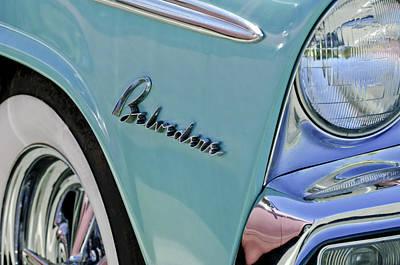 Photograph - 1955 Plymouth Belvedere Emblem by Jill Reger