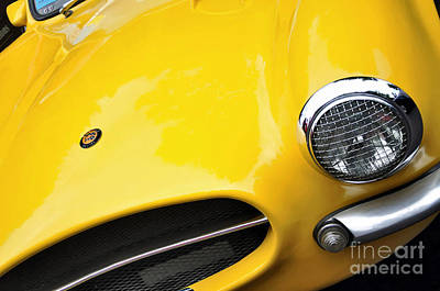 Photograph - 1956 Buckle Gt Coupe - Badge Grill Headlight by Kaye Menner