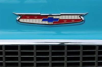 1956 Chevrolet Belair Nomad Grille Emblem Art Print by Jill Reger