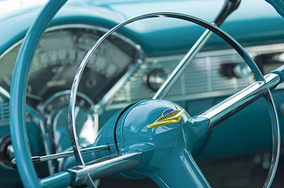 1956 Chevrolet Belair Nomad Steering Wheel Art Print by Jill Reger