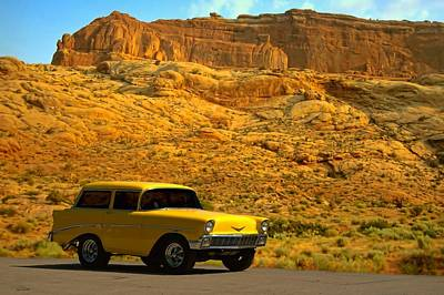 Photograph - 1956 Chevy Wagon Short Stuff  by Tim McCullough
