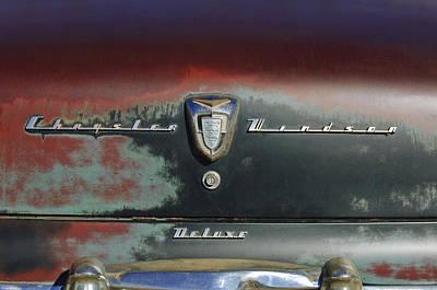Photograph - 1956 Chrysler Windsor Emblem by Jill Reger