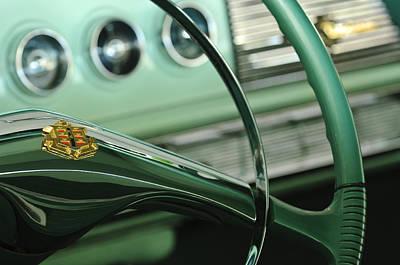 Photograph - 1956 Dodge Coronet Steering Wheel by Jill Reger