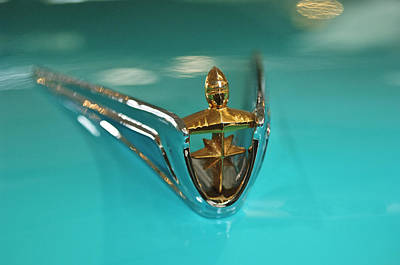 Photograph - 1956 Lincoln Premier Convertible Hood Ornament 2 by Jill Reger