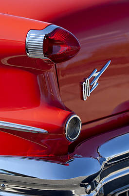 Photograph - 1956 Oldsmobile 88 Taillight Emblem by Jill Reger