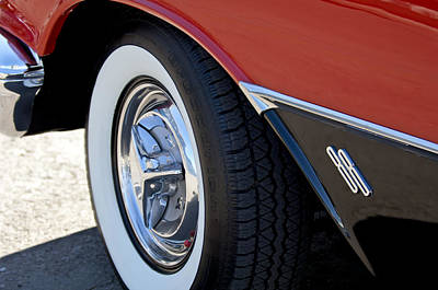 Photograph - 1956 Oldsmobile Holiday 88 Wheel by Jill Reger