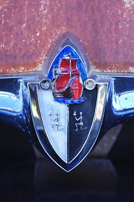 Photograph - 1956 Plymouth Suburban Station Wagon Emblem by Jill Reger