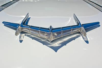Photograph - 1956 Pontiac Star Chief Hood Ornament 2 by Jill Reger