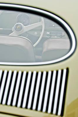 1956 Volkswagen Vw Bug Photograph - 1956 Volkswagen Vw Bug Steering Wheel 4 by Jill Reger