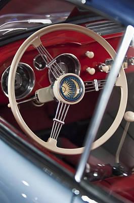 Photograph - 1956 Volkswagen Vw Karmann Ghia Coupe Steering Wheel by Jill Reger