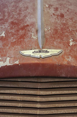 Photograph - 1957 Aston Martin Db2-4 Mkii Emblem 3 by Jill Reger