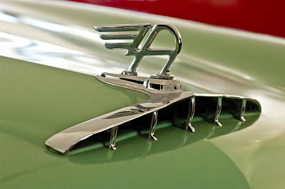 Photograph - 1957 Austin Cambrian 4 Door Saloon Hood Ornament by Jill Reger