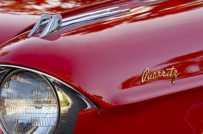 Photograph - 1957 Cadillac Eldorado Biarritz Convertible Hood Ornament by Jill Reger