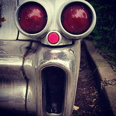 Horror Photograph - 1957 Cadillac #horror #fright #scaryface by Zipquote Com