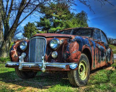 Photograph - 1957 Jaguar Sedan by Steve Hurt