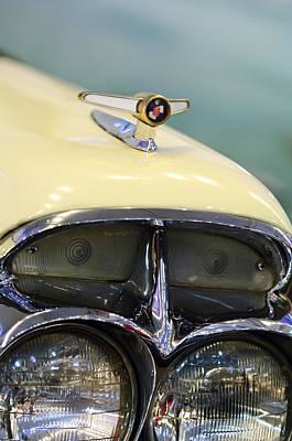 Photograph - 1957 Mercury Turnpike Cruiser Headlight Emblem by Jill Reger