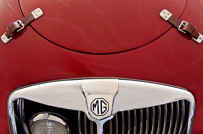 Photograph - 1957 Mg Mga Ex182 Tribute Grille Emblem by Jill Reger